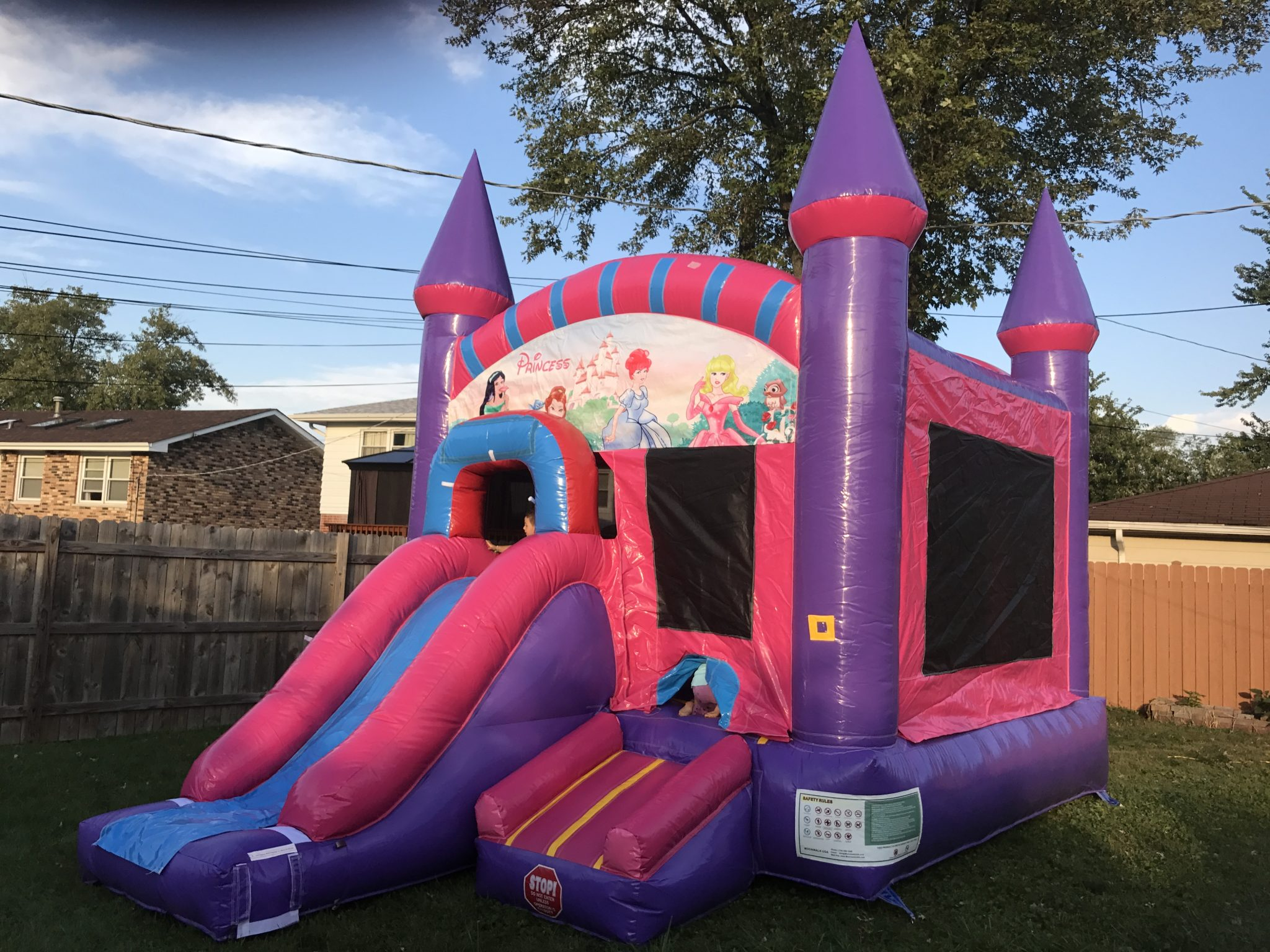 Princess 5 in 1 x Bouncy Castle Bounce my House