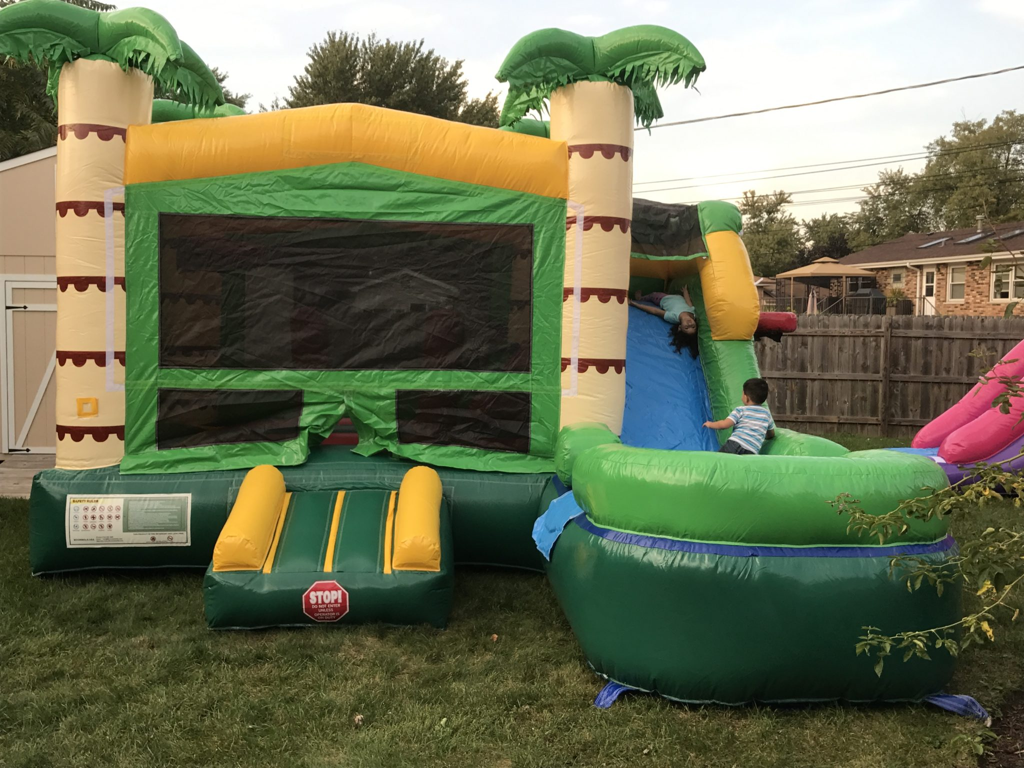 Tropical 6 in 1 x Bouncy House Bounce my House
